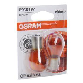 Glühlampe, Blinkleuchte PY21W, BAU15s, 12V, 21W 7507-02B