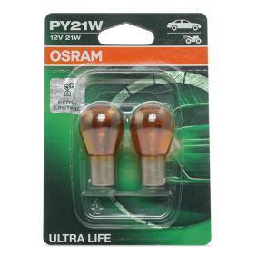 Glühlampe, Blinkleuchte PY21W, BAU15s, 12V, 21W 7507ULT-02B