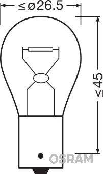 Bulb, indicator 7511 OSRAM P21W original quality