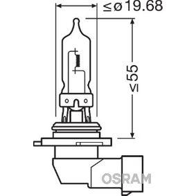 Крушка с нагреваема жичка, фар за дълги светлини HB3, 60ват, 12волт 9005-01B