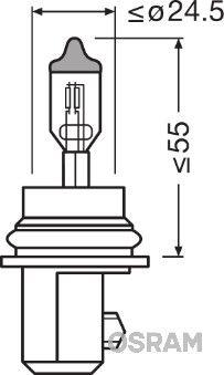 OSRAM ORIGINAL 9007 Glühlampe, Fernscheinwerfer