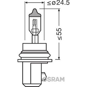 Bulb, spotlight HB5, 60/55W, 12V 9007