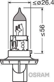 Glühlampe, Fernscheinwerfer 9008 OSRAM H13 in Original Qualität