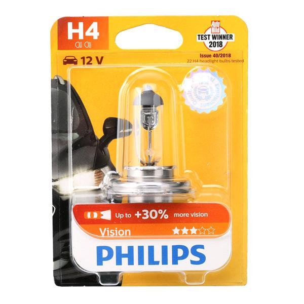 Bulb, spotlight 12342PRB1 PHILIPS H4 original quality