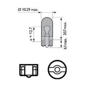 Blinkleuchten Glühlampe VW PASSAT Variant (3B6) 1.9 TDI 130 PS ab 11.2000 PHILIPS Glühlampe, Blinkleuchte (12396 NACP) für