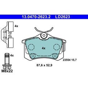 Jogo de pastilhas para travão de disco Largura: 87,6mm, Altura: 52,9mm, Espessura: 15,7mm com códigos OEM 16 231 807 80