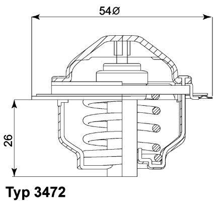 Radiator Thermostat 3472.87D WAHLER E2858853447D9 original quality