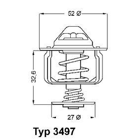 Thermostat, Kühlmittel Art. Nr. 3497.88D 120,00€