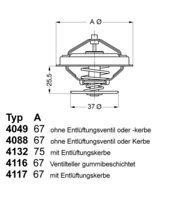 Radiator Thermostat 4116.87D1 WAHLER E2858856218C9 original quality