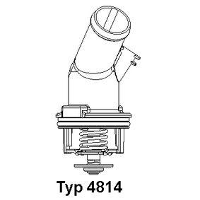 WAHLER Thermostat, Kühlmittel 4814.92D für AUDI A4 Avant (8E5, B6) 3.0 quattro ab Baujahr 09.2001, 220 PS