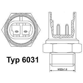 1999 Fiat Seicento 187 1.1 Temperature Switch, radiator fan 6031.97D