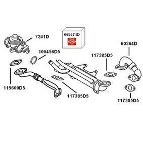 AGR Ventil VW PASSAT Variant (3B6) 1.9 TDI 130 PS ab 11.2000 WAHLER Rohrleitung, AGR-Ventil (60364D) für