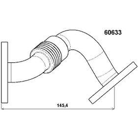 AGR Ventil VW PASSAT Variant (3B6) 1.9 TDI 130 PS ab 11.2000 WAHLER Rohrleitung, AGR-Ventil (60633D) für