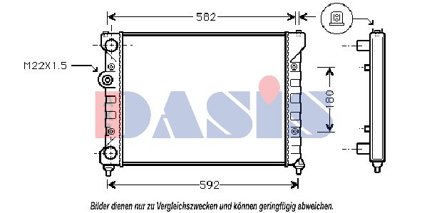 Radiateur 041970N AKS DASIS 041970N originales de qualité