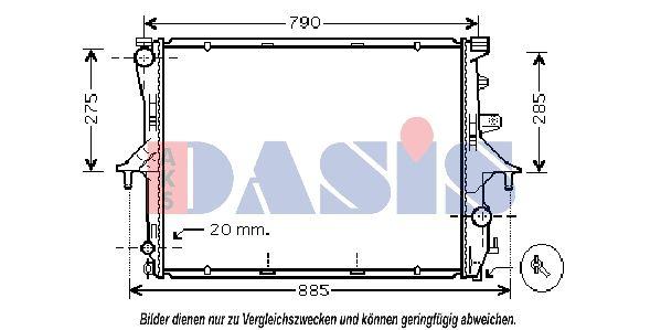 AKS DASIS  044001N Radiateur, refroidissement du moteur Dimension du radiateur: 710x550x40