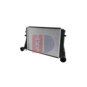 Ladeluftkühler für VW TOURAN (1T1, 1T2) 1.9 TDI 105 PS ab Baujahr 08.2003 AKS DASIS Ladeluftkühler (047006N) für