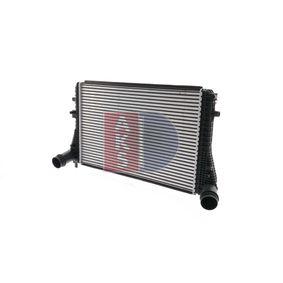Ladeluftkühler für VW TOURAN (1T1, 1T2) 1.9 TDI 105 PS ab Baujahr 08.2003 AKS DASIS Ladeluftkühler (047023N) für