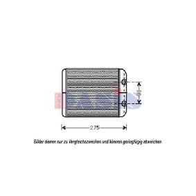 AKS DASIS Wärmetauscher, Innenraumheizung 049001N für AUDI Q7 (4L) 3.0 TDI ab Baujahr 11.2007, 240 PS