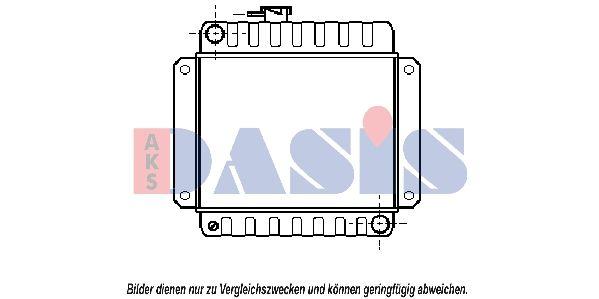 AKS DASIS  050010N Radiateur, refroidissement du moteur Dimension du radiateur: 335x397x34