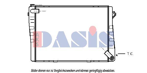 Radiateur 050020N AKS DASIS 050020N originales de qualité