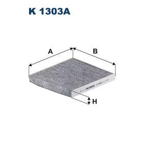 Filter, Innenraumluft Länge: 216mm, Breite: 194mm, Höhe: 25mm mit OEM-Nummer K05058381 AA