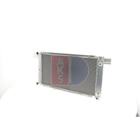 Kondensator, Klimaanlage Netzmaße: 570x353x15 mit OEM-Nummer 39035152