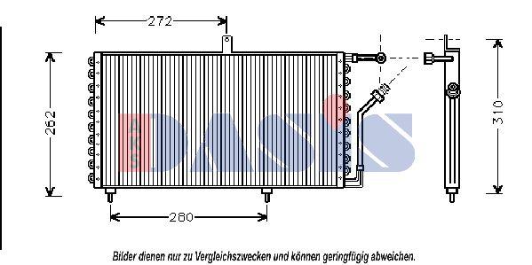 Klimakondensator 162070N AKS DASIS 162070N in Original Qualität