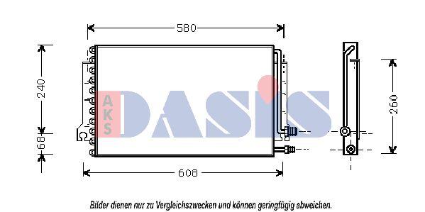 Klimakondensator 172002N AKS DASIS 172002N in Original Qualität
