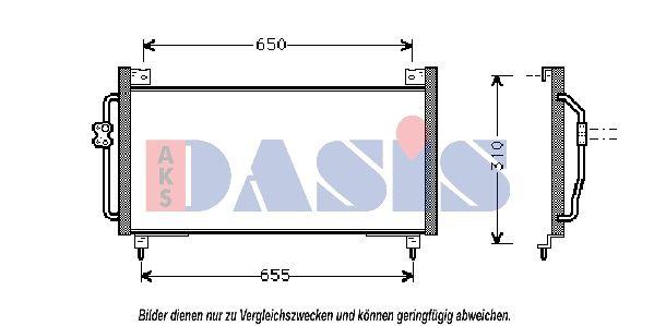 AKS DASIS  352002N Kondensator, Klimaanlage Netzmaße: 700x290x20