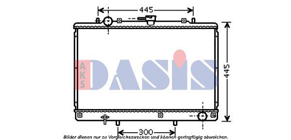 AKS DASIS  352016N Kondensator, Klimaanlage Netzmaße: 625x323x17