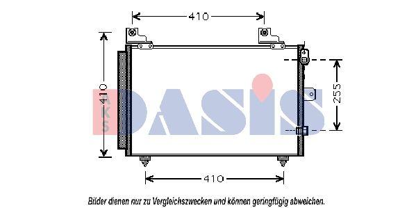 AKS DASIS  362004N Kondensator, Klimaanlage Netzmaße: 496x351x16
