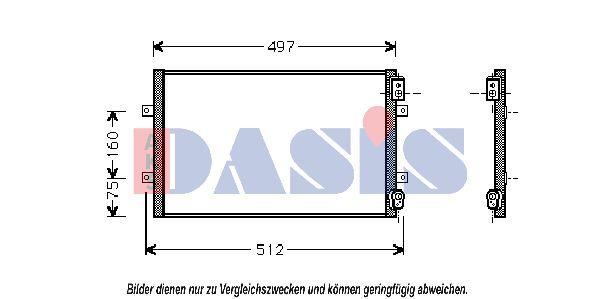 Klimakondensator 372002N AKS DASIS 372002N in Original Qualität
