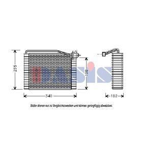 Verdampfer VW PASSAT Variant (3B6) 1.9 TDI 130 PS ab 11.2000 AKS DASIS Verdampfer, Klimaanlage (820144N) für