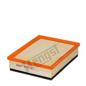 Luftfilter Länge: 244,0mm, Breite: 178,0mm, Höhe: 57,0mm mit OEM-Nummer 13721744869
