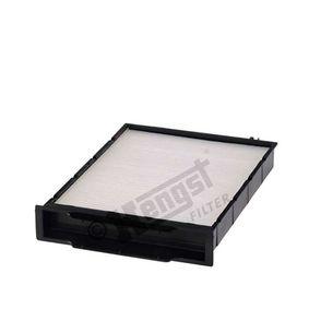 Filter, Innenraumluft Länge: 245mm, Breite: 180mm, Höhe: 40mm mit OEM-Nummer 7701055109
