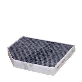 HENGST FILTER  E2948LC Filter, Innenraumluft Länge: 279,0mm, Breite: 241,0mm, Höhe: 35,0mm
