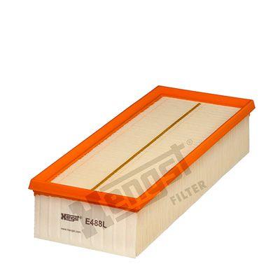 HENGST FILTER  E488L Luftfilter Länge: 344,0mm, Breite: 135,0mm, Höhe: 70,0mm