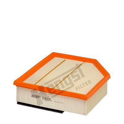 HENGST FILTER  E512L Luftfilter Länge: 226mm, Breite: 210mm, Höhe: 67mm, Länge: 226mm