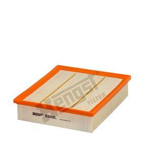 Luftfilter Länge: 246,0mm, Breite: 208,0mm, Höhe: 56,0mm mit OEM-Nummer LR027408