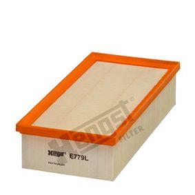 HENGST FILTER  E779L Luftfilter Länge: 312,0mm, Breite: 150,0mm, Höhe: 70,0mm