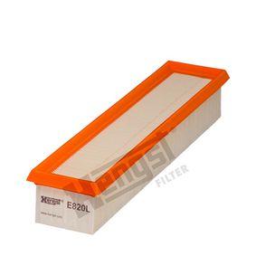 Luftfilter Länge: 355mm, Breite: 80mm, Höhe: 58mm, Länge: 355mm mit OEM-Nummer 7701059409