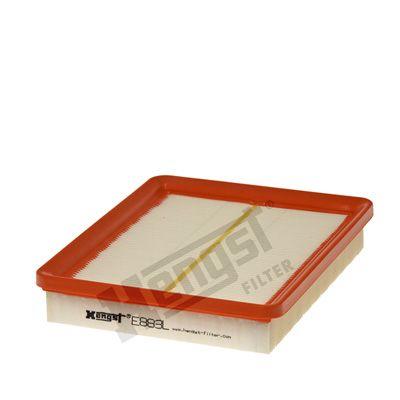 HENGST FILTER  E883L Luftfilter Länge: 235mm, Breite: 190mm, Höhe: 40mm, Länge: 235mm