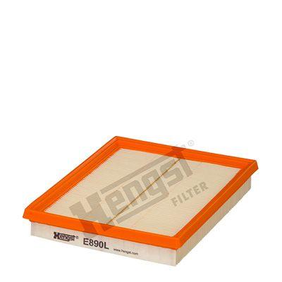 HENGST FILTER  E890L Luftfilter Länge: 216mm, Breite: 166mm, Höhe: 32mm, Länge: 216mm