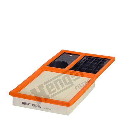 HENGST FILTER  E892L Air Filter Length: 374mm, Width: 192mm, Height: 41mm, Length: 374mm