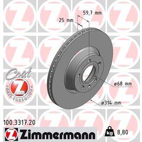 Bremsscheibe Art. Nr. 100.3317.20 120,00€