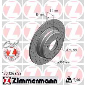 Bremsscheibe Art. Nr. 150.1267.52 120,00€