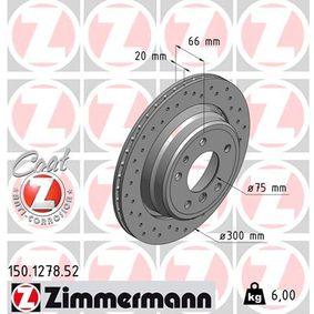 Bremsscheibe Bremsscheibendicke: 20mm, Felge: 5-loch, Ø: 300mm mit OEM-Nummer 34211159659