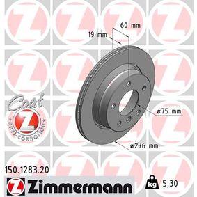 Bremsscheibe Bremsscheibendicke: 19mm, Felge: 5-loch, Ø: 276mm mit OEM-Nummer 3421 6 864 903