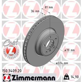 Bremsscheibe Art. Nr. 150.3409.20 120,00€