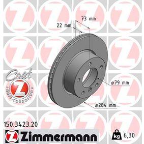 Bremsscheibe Bremsscheibendicke: 22mm, Lochanzahl: 5, Ø: 284mm mit OEM-Nummer 34 116 854 996